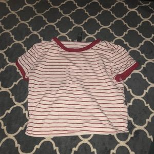 Forever 21 striped crop top size small